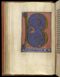 Full-Page Beatus Initial, In A Psalter